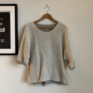American Apparel Grey/White Reversible Sweater